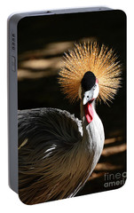 Portable Battery Charger featuring the photograph Grey Crowned Crane by Kathy Baccari