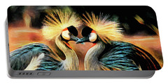 Grey Crowned Cranes Portable Battery Charger