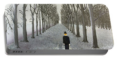 Portable Battery Charger featuring the painting Grey Day by Thomas Blood