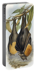 Grey Headed Flying Fox, Pteropus Poliocephalus Portable Battery Charger by John Gould