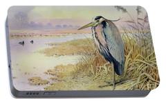 Grey Heron Portable Battery Charger by John James Audubon