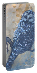 Grey Owl1 Portable Battery Charger by Laurianna Taylor