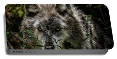 Portable Battery Charger featuring the photograph Grey Wolf by Brad Allen Fine Art