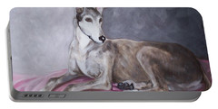 Greyhound At Rest Portable Battery Charger by George Pedro