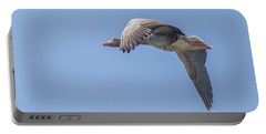 Portable Battery Charger featuring the photograph Greylag Goose - Anser Anser by Jivko Nakev