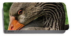 Greylag Goose Portrait  Portable Battery Charger by Gary Whitton