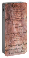 Portable Battery Charger featuring the mixed media Grief 1 by Angelina Vick