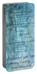 Portable Battery Charger featuring the mixed media Grief 2 by Angelina Vick