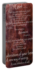Portable Battery Charger featuring the mixed media Grief 3 by Angelina Vick