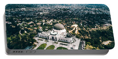 Griffith Observatory And Dtla Portable Battery Charger