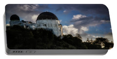 Portable Battery Charger featuring the photograph Griffith Observatory by Joseph Hollingsworth