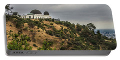 Portable Battery Charger featuring the photograph Griffith Park Observatory by Ed Clark