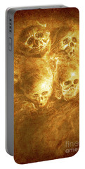 Grim Tales Of Burning Skulls Portable Battery Charger