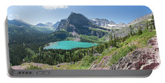 Grinnell Lake Panoramic - Glacier National Park Portable Battery Charger