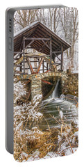 Grist Mill In Fresh Snow Portable Battery Charger