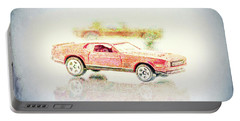 Gritty Mustang Mach 1 Portable Battery Charger by Wade Brooks