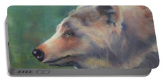 Grizzly Bear Portrait Portable Battery Charger