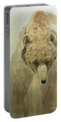 Grizzly Bear1 Portable Battery Charger by Laurianna Taylor