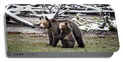 Grizzly Cub Holding Mother Portable Battery Charger