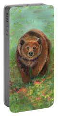 Grizzly In The Meadow Portable Battery Charger