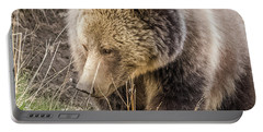 Portable Battery Charger featuring the photograph Grizzly Mama by Yeates Photography