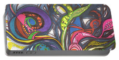 Groovy Series Portable Battery Charger by Chrisann Ellis
