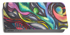 Groovy Series Titled My Hippy Days  Portable Battery Charger by Chrisann Ellis