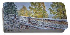 Gros Ventre Grand Teton Fall Snowfall Fence Portable Battery Charger