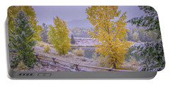 Gros Ventre Grand Teton Fall Snowfall Portable Battery Charger