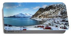 Grotfjord Norway Portable Battery Charger by Mariusz Czajkowski