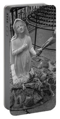 Grotto Of Our Lady Of Lourdes Statue  Portable Battery Charger