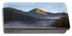 Ground Fog In Cataloochee Valley - October 12 2016 Portable Battery Charger