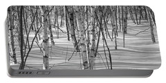 Group Of White Birches Portable Battery Charger by Alana Ranney