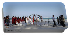 Group Wedding Photo Africa Beach Portable Battery Charger