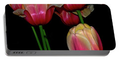 Grouping Ofpink And Yellow Tulips Portable Battery Charger