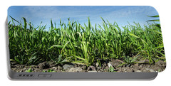 Portable Battery Charger featuring the photograph Growing Corn Closeup by Kennerth and Birgitta Kullman