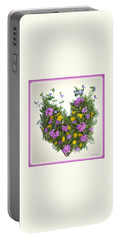 Portable Battery Charger featuring the digital art Growing Heart by Lise Winne