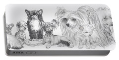 The Chinese Crested And Powderpuff Portable Battery Charger