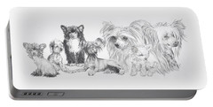 Growing Up Chinese Crested And Powderpuff Portable Battery Charger