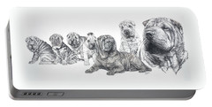 Growing Up Chinese Shar-pei Portable Battery Charger
