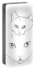 Portable Battery Charger featuring the drawing Grrrrrrrrrr by Denise Fulmer