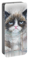 Grumpy Cat Watercolor Painting  Portable Battery Charger