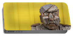 Portable Battery Charger featuring the photograph Grumpy Old Man by Edward Fielding