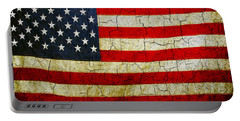 Grunge American Flag  Portable Battery Charger