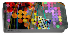 Portable Battery Charger featuring the digital art Grunge City Lights by Fran Riley