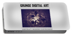 Grunge Collection Portable Battery Charger by Modern Art Prints
