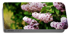 Grunge Lilacs Portable Battery Charger