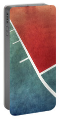 Portable Battery Charger featuring the photograph Grunge On The Basketball Court by Gary Slawsky