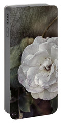 Portable Battery Charger featuring the digital art Grungy Floral by Bonnie Willis