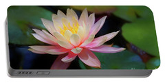 Portable Battery Charger featuring the photograph Grutas Water Lilly by John Kolenberg
